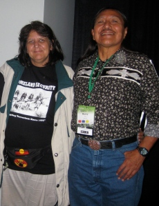 MItch and Manuel Pino at 'Powershift', Piscatawan Land, Washington DC